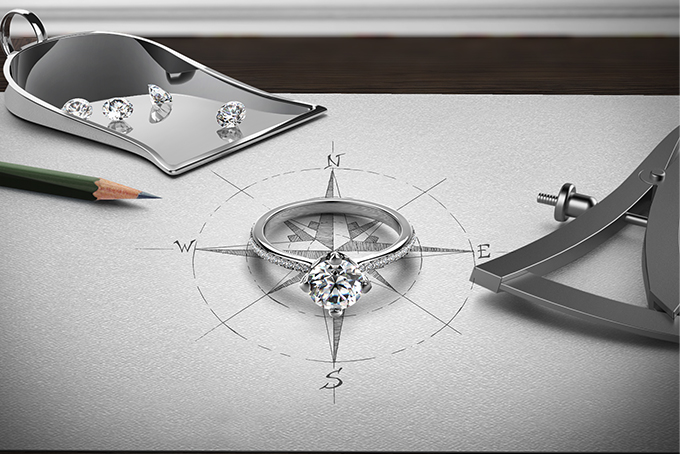 Forevermark®永恒印记镶嵌单颗美钻戒指